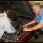 mechanics working