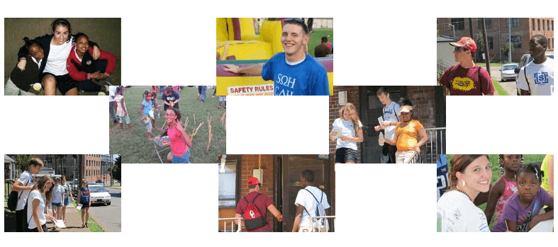 Collage of Kids at Camp